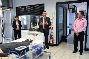 vicepresidente de la República, Marvin Rodríguez Cordero, y la viceministra del Ministerio de Ciencia, Tecnología y Telecomunicaciones (Micitt), Paola Vega Castillo visita UCR