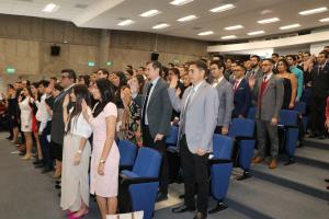 Juramentó nuevos profesionales 7 de octubre en el auditorio de la Facultad de Derecho