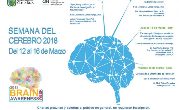 Centro de Investigación en Neurociencias de la Universidad de Costa Rica (UCR)  Semana del Cerebro