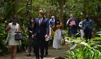 Jerarcas del Gobierno visitaron el Jardín Botánico Lankester